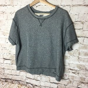 Vince gray cropped sweater shirt, large